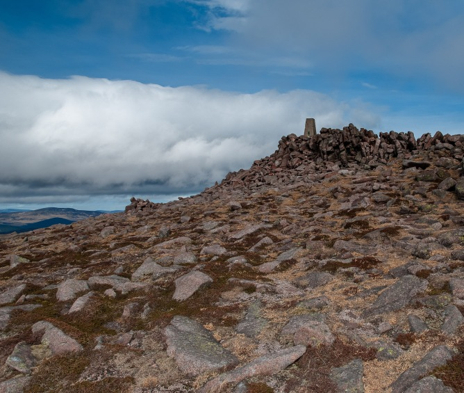 The summit of Mount Keen