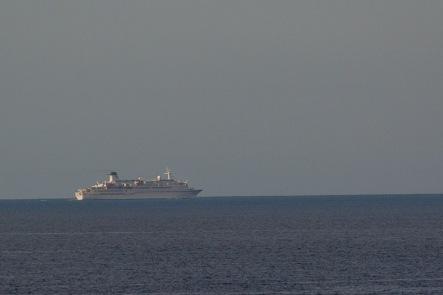 Passenger ship 'Berlin' sailing through the Moray Firth
