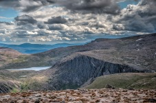Loch Etchachan from the top of Cairn Gorm